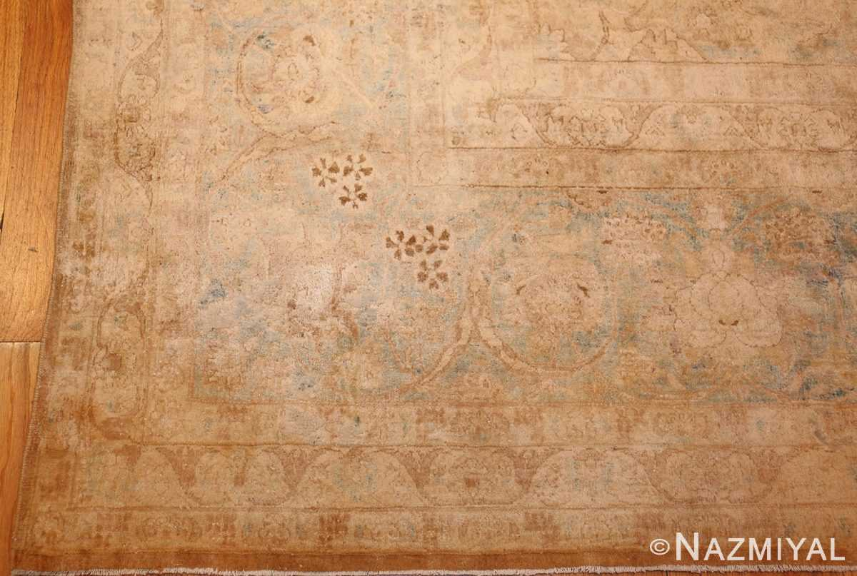 large and decorative antique persian tabriz rug 48740 corner Nazmiyal