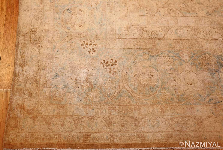 large and decorative antique persian tabriz rug 48740 corner Nazmiyal