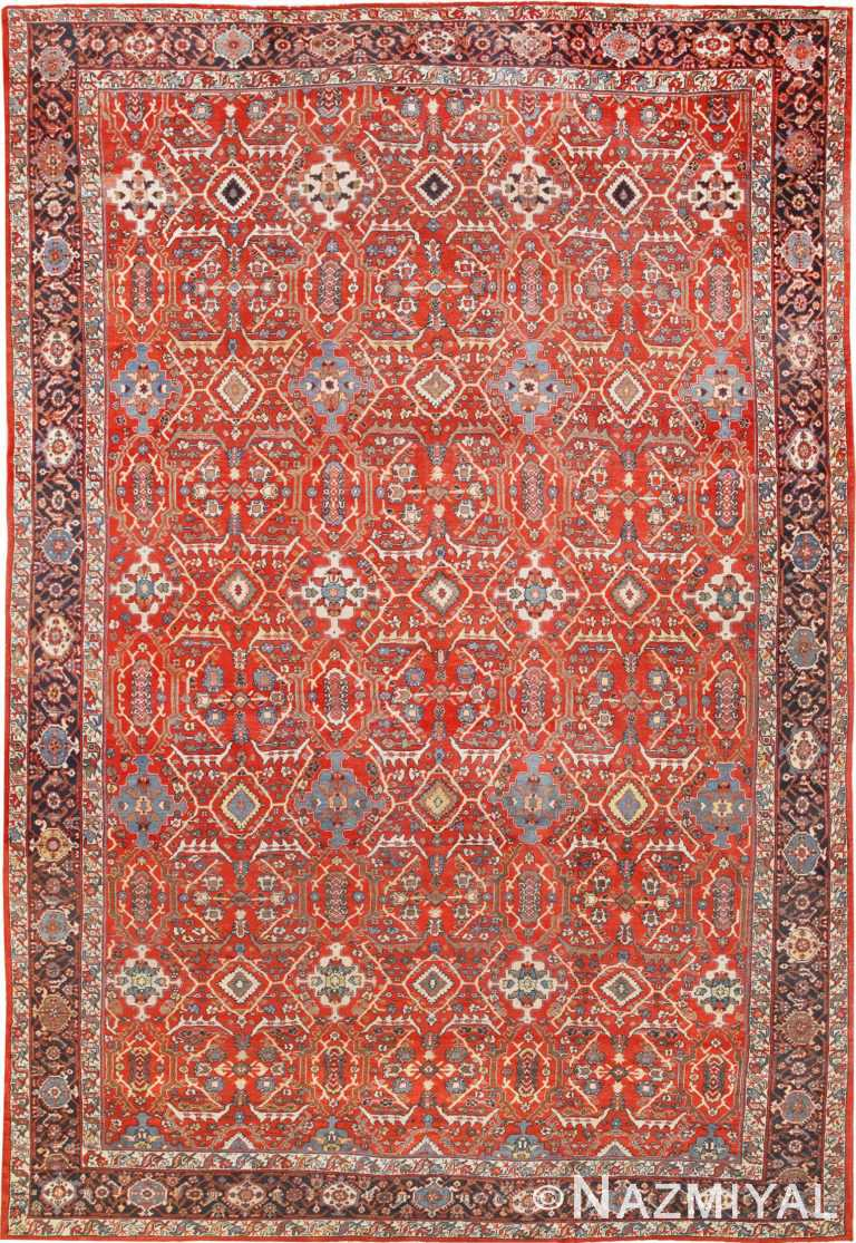 Large Antique Persian Mahal Sultanabad Rug 50586 Nazmiyal