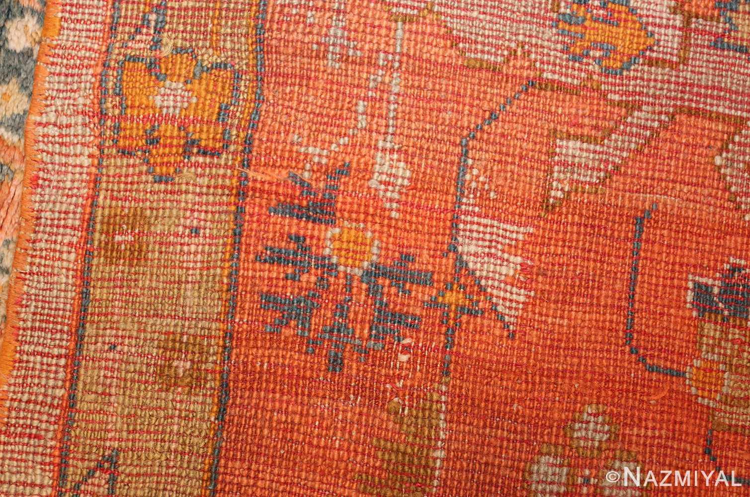 large ivory background turkish antique oushak rug 50666 weave Nazmiyal