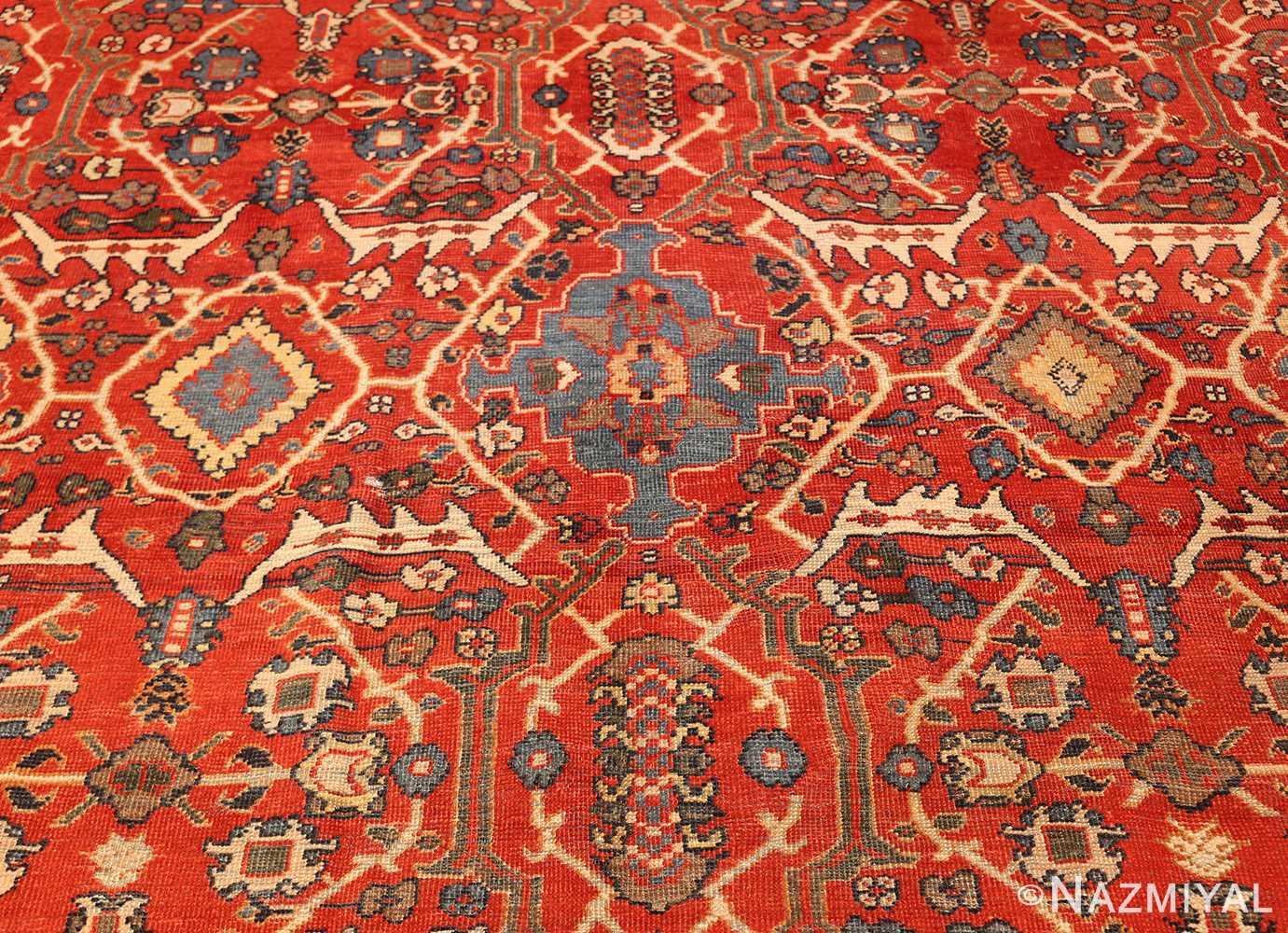 large oversized antique geometric persian mahal sultanabad rug 50586 blue Nazmiyal