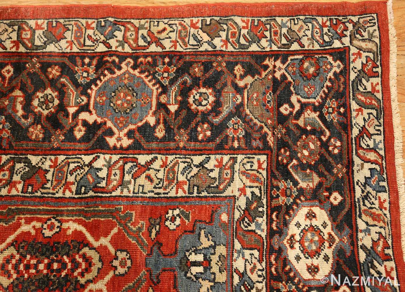 large oversized antique geometric persian mahal sultanabad rug 50586 corner Nazmiyal