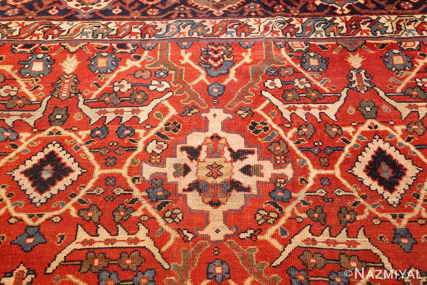 large oversized antique geometric persian mahal sultanabad rug 50586 top Nazmiyal