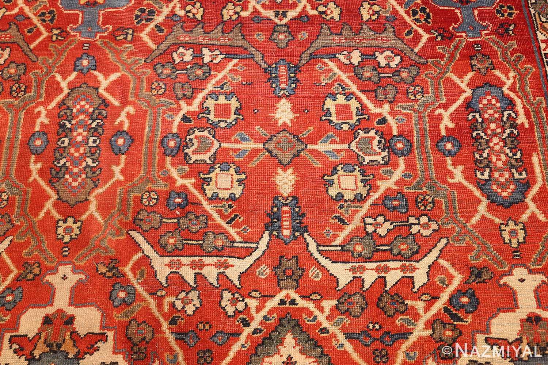 large oversized antique geometric persian mahal sultanabad rug 50586 white Nazmiyal
