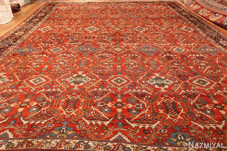 large oversized antique geometric persian mahal sultanabad rug 50586 whole Nazmiyal