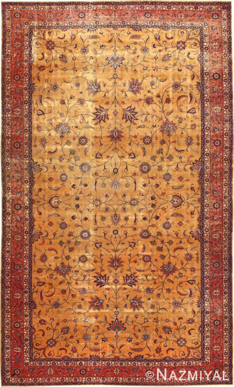 Large Oversized Antique Indian Carpet 50119 Nazmiyal