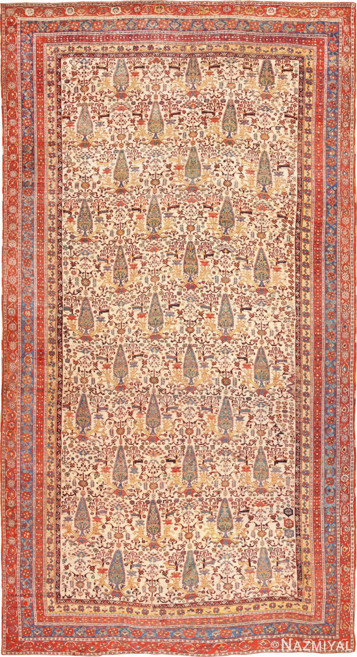 Large Oversized Antique Persian Tribal Qashqai Rug 50651 Nazmiyal