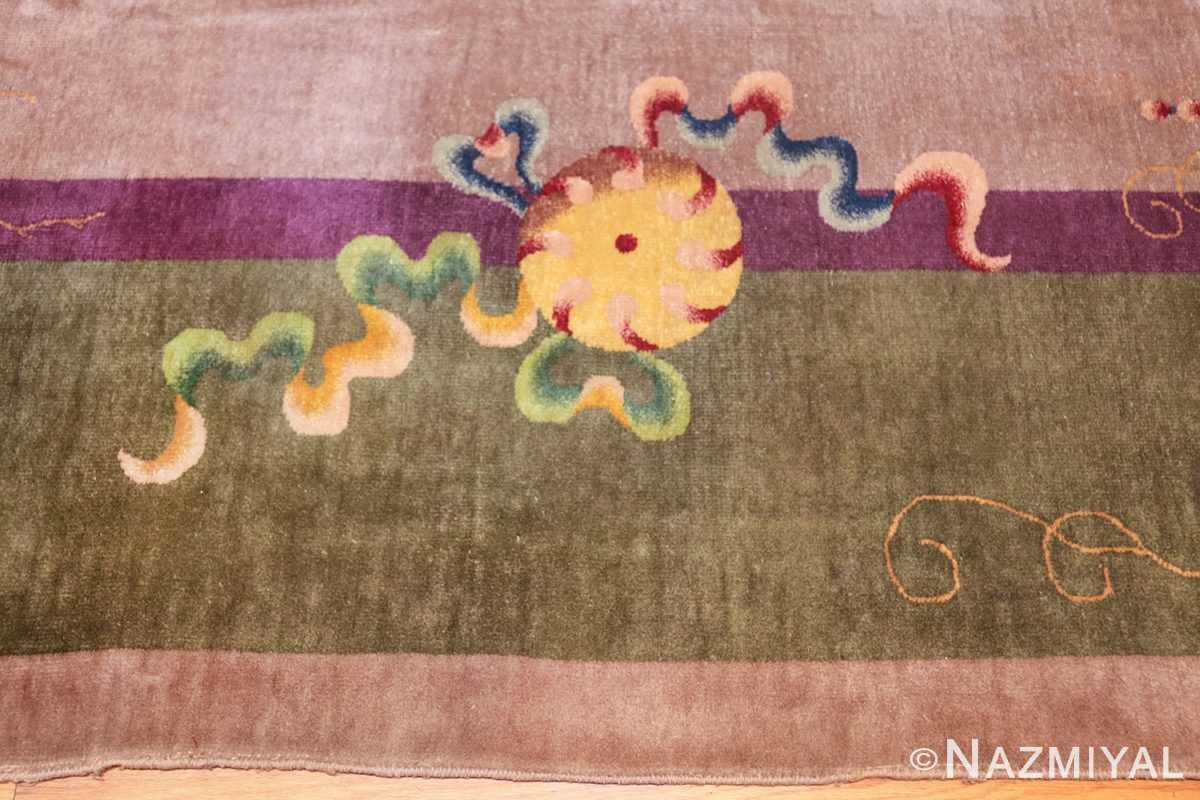 purple antique art deco chinese rug 48769 border Nazmiyal