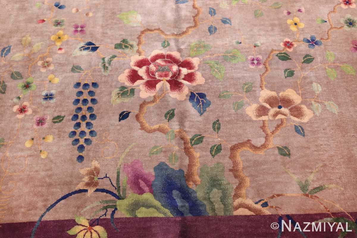 purple antique art deco chinese rug 48769 bunch Nazmiyal