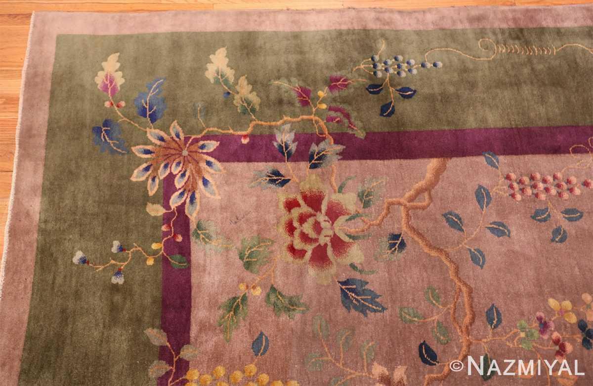 purple antique art deco chinese rug 48769 corner Nazmiyal
