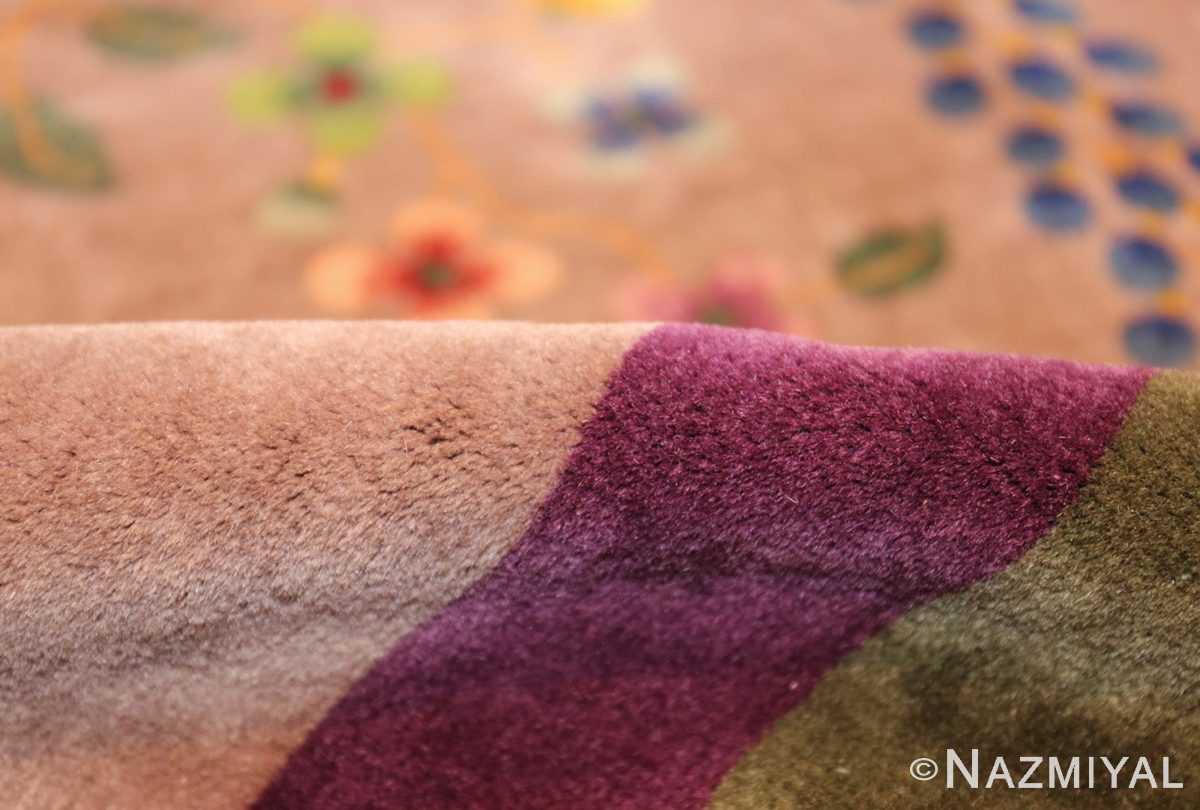 purple antique art deco chinese rug 48769 pile Nazmiyal