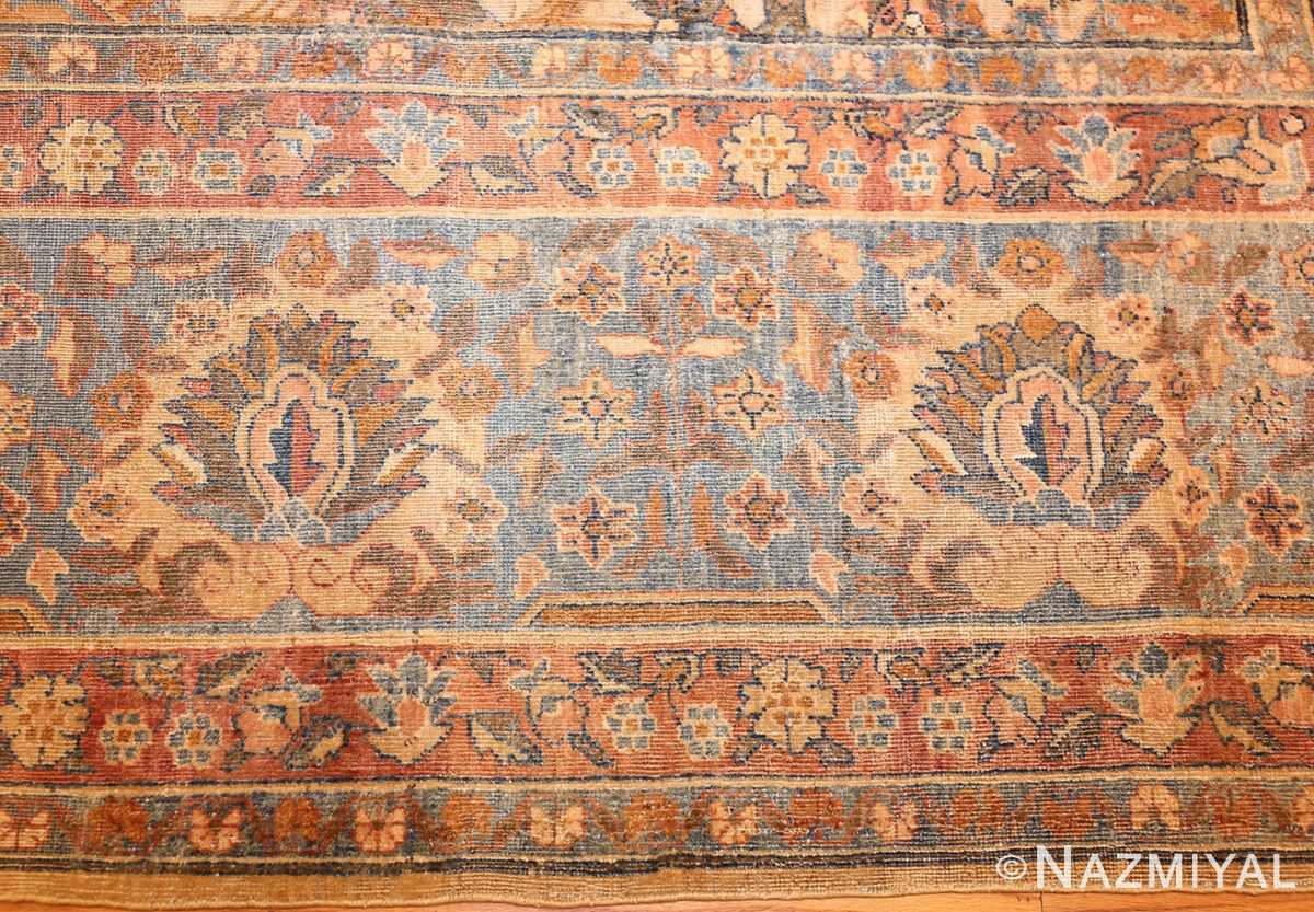rare square size persian antique tabriz rug 50359 border Nazmiyal