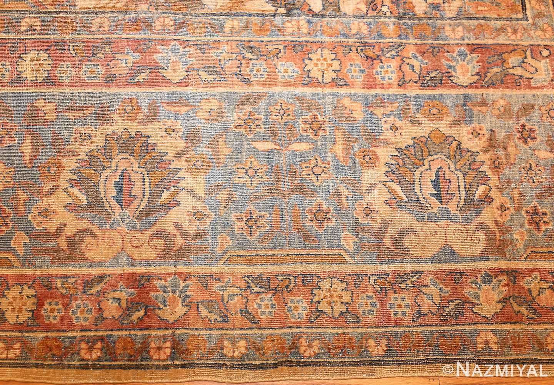 rare square size persian antique tabriz rug 50359 border Nazmiyal