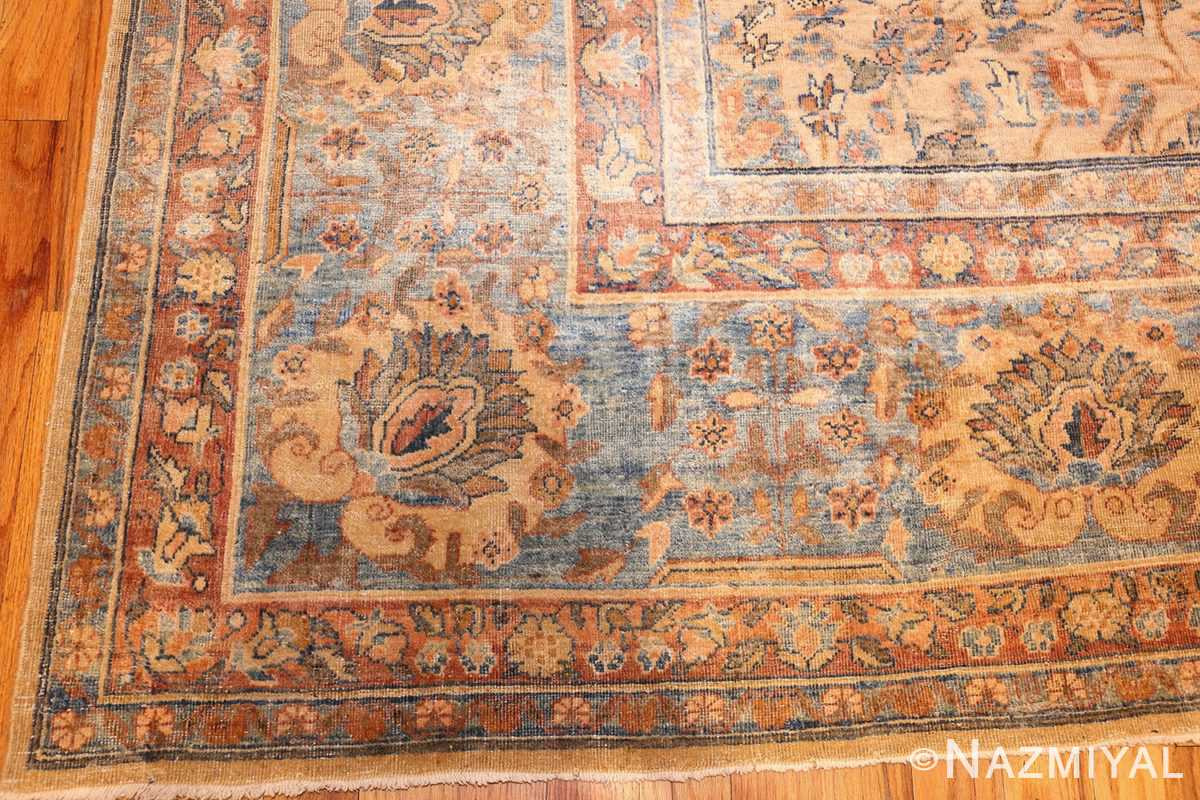 rare square size persian antique tabriz rug 50359 corner Nazmiyal