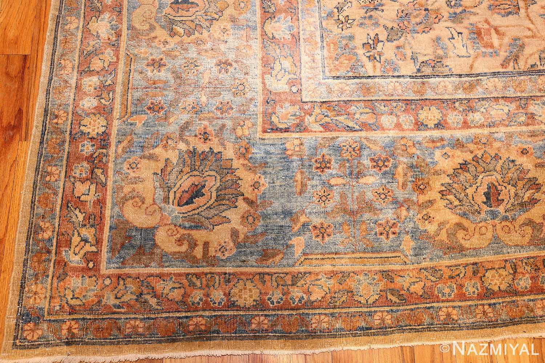 rare square size persian antique tabriz rug 50359 corner Nazmiyal