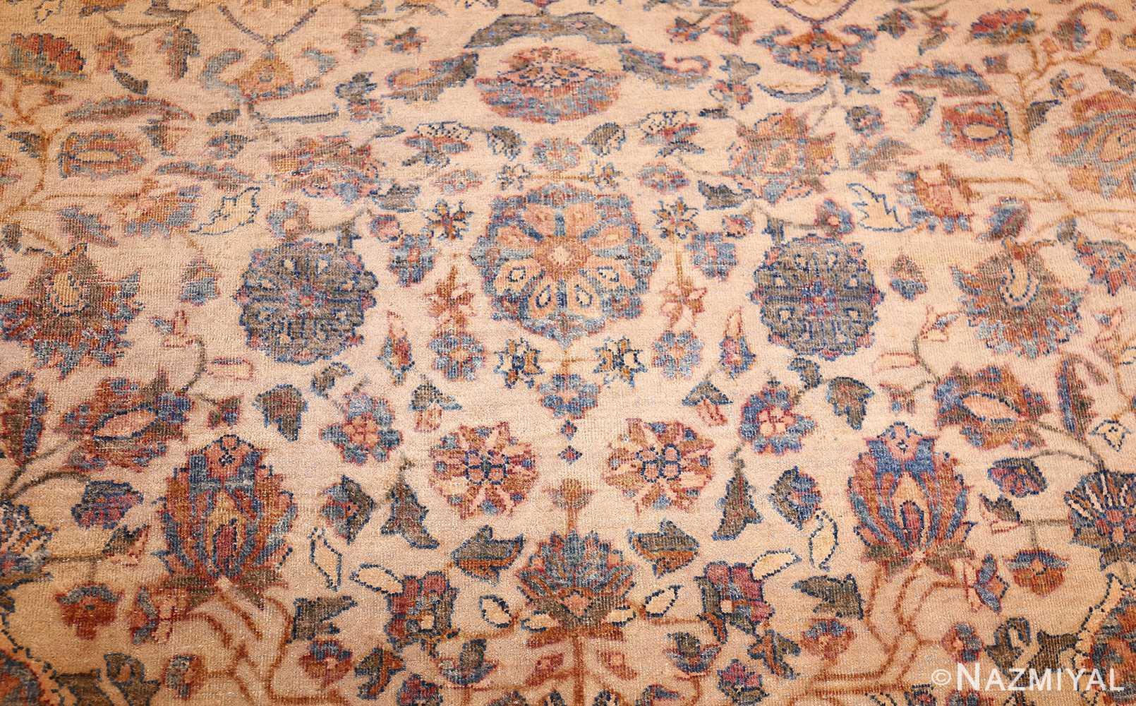rare square size persian antique tabriz rug 50359 design Nazmiyal