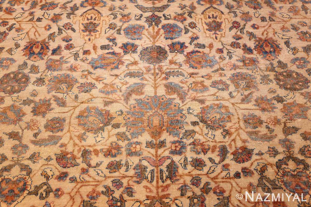rare square size persian antique tabriz rug 50359 field Nazmiyal