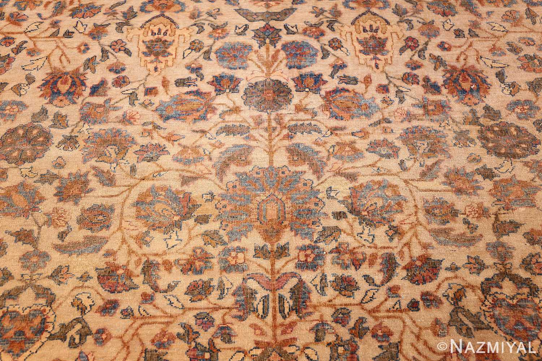 rare square size persian antique tabriz rug 50359 field Nazmiyal