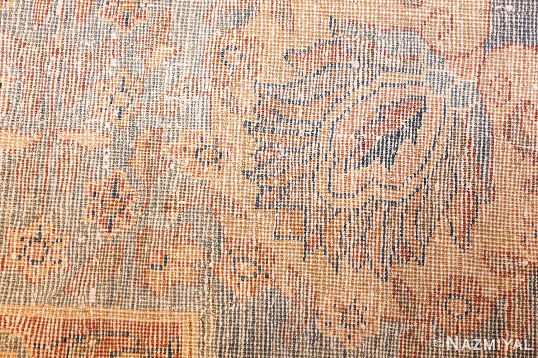 rare square size persian antique tabriz rug 50359 weave Nazmiyal