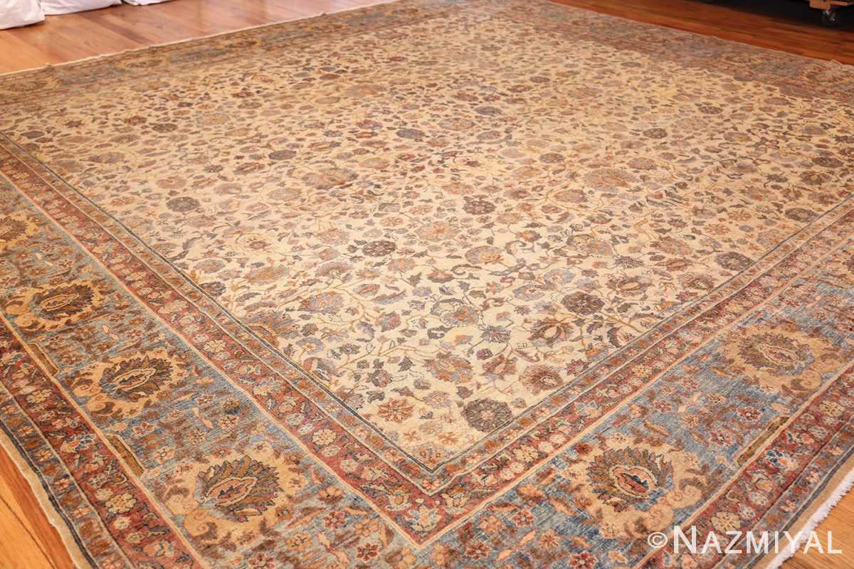 rare square size persian antique tabriz rug 50359 whole Nazmiyal