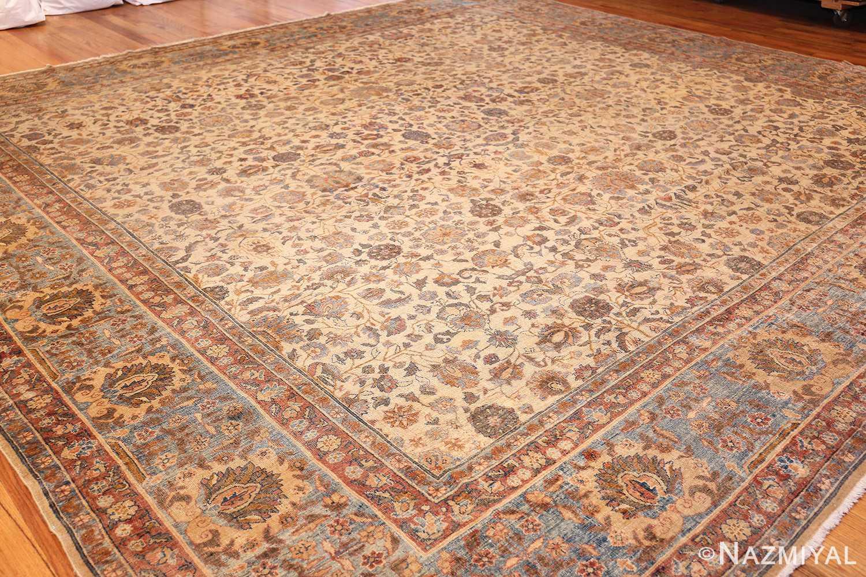 rare square size persian antique tabriz rug 50359 whole Nazmiyal