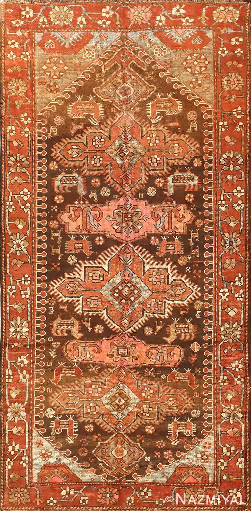 Small Antique Tribal Caucasian Kazak Rug 50582 Nazmiyal