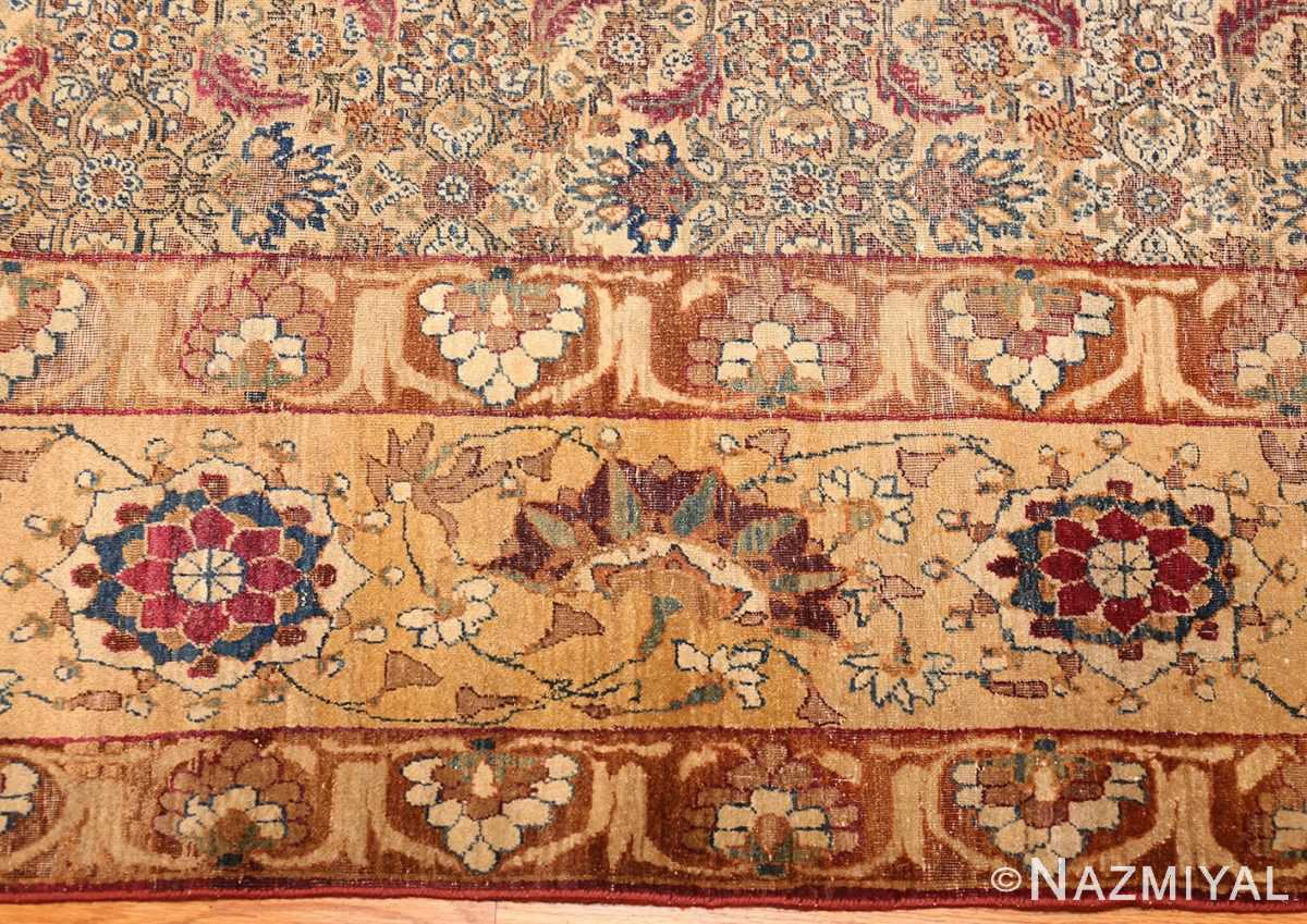 small rare antique persian kerman rug 48799 border Nazmiyal