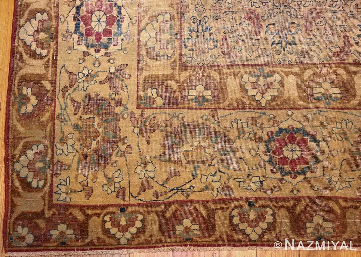 small rare antique persian kerman rug 48799 corner Nazmiyal