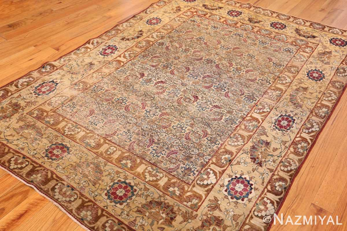 small rare antique persian kerman rug 48799 side Nazmiyal