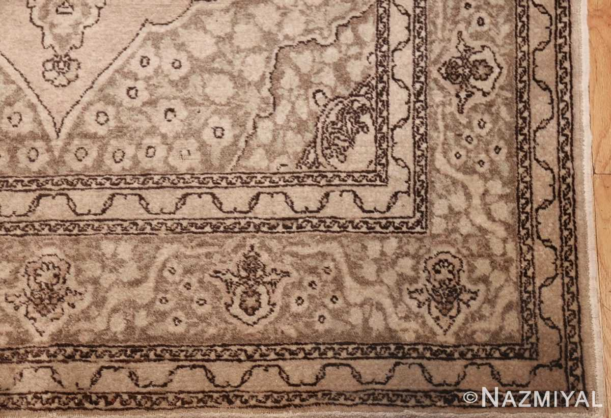 small scatter size antique persian tabriz rug 50635 corner Nazmiyal
