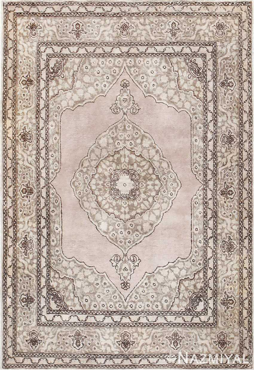 Small Scatter Size Antique Persian Tabriz Rug 50635 Nazmiyal