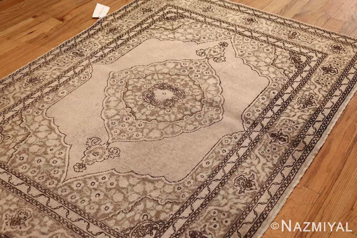 small scatter size antique persian tabriz rug 50635 lightside Nazmiyal
