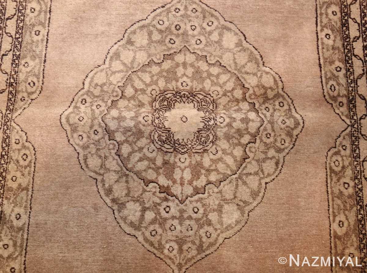 small scatter size antique persian tabriz rug 50635 medallion Nazmiyal