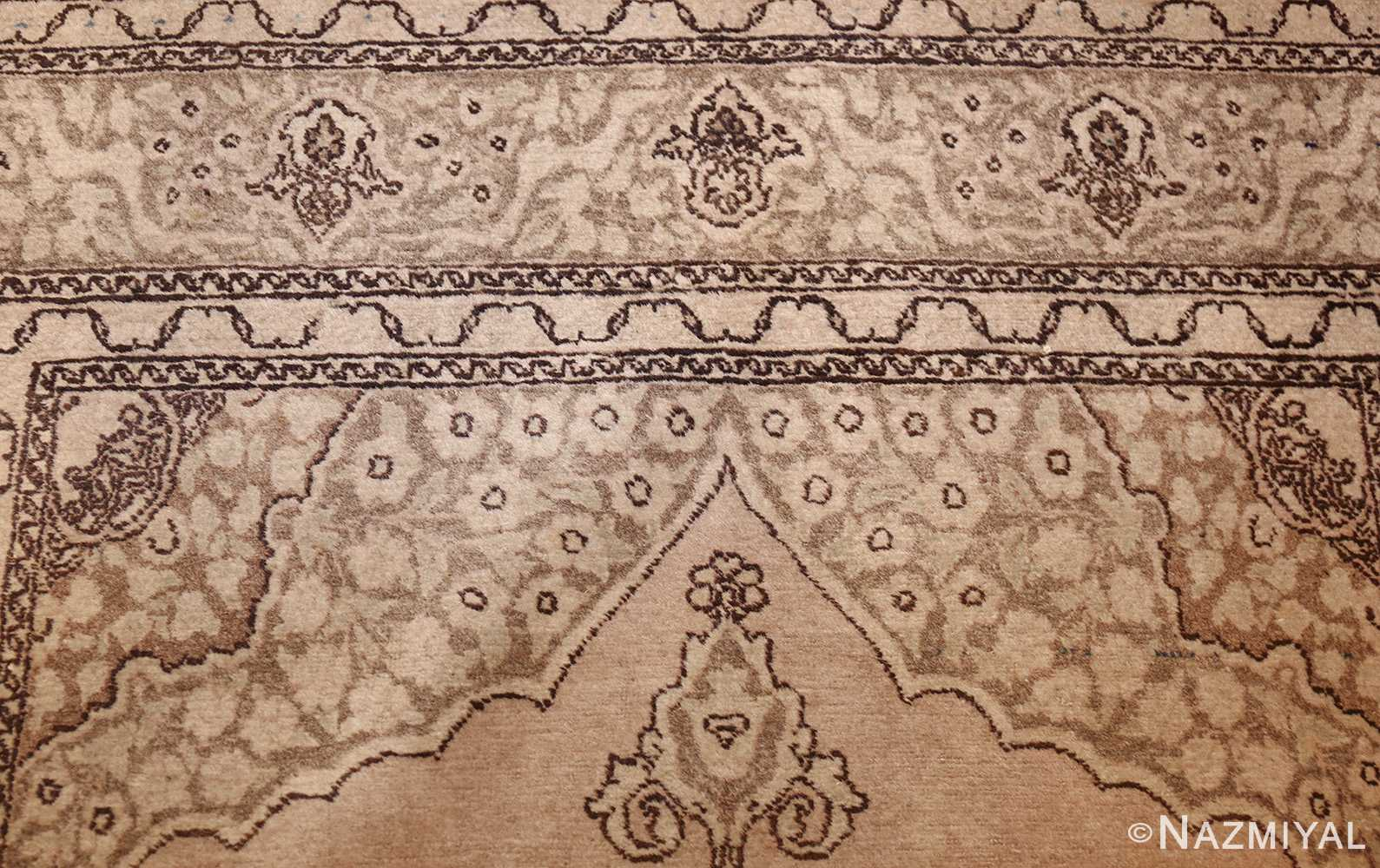 small scatter size antique persian tabriz rug 50635 top Nazmiyal