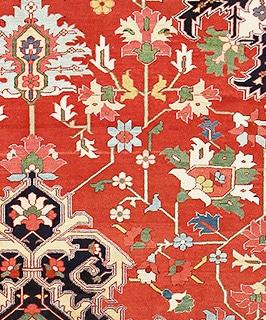 Antique Persian Heriz Serapi Bakshaish Rugs by Nazmiyal