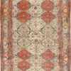 Antique Persian Ivory Sarouk Farahan Oriental Rug 40530 Nazmiyal