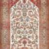 Antique Persian Silk Prayer Design Kashan Oriental Rug 50633 Nazmiyal
