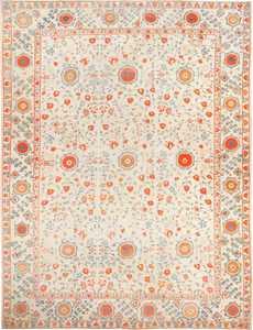 Breathtaking Large Oversized Antique Khotan Carpet 48219 Nazmiyal