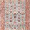 Light Blue Antique Persian Tabriz Oriental Rug 48820 Nazmiyal