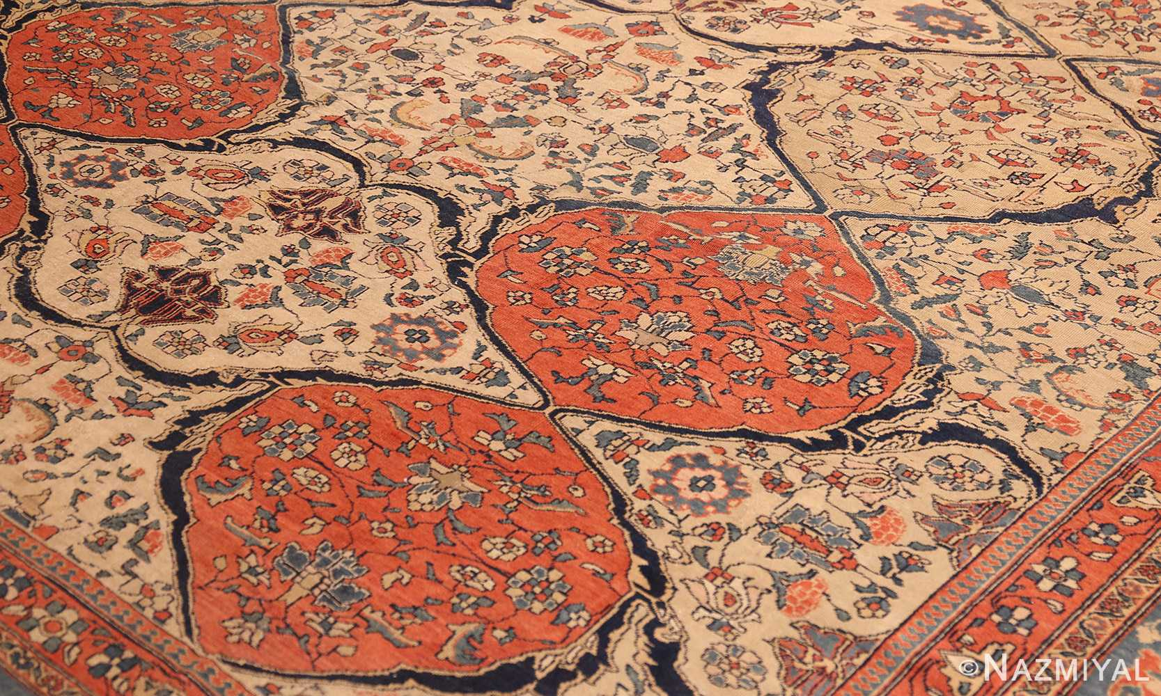 Antique Persian Ivory Sarouk Farahan Oriental Rug 40530