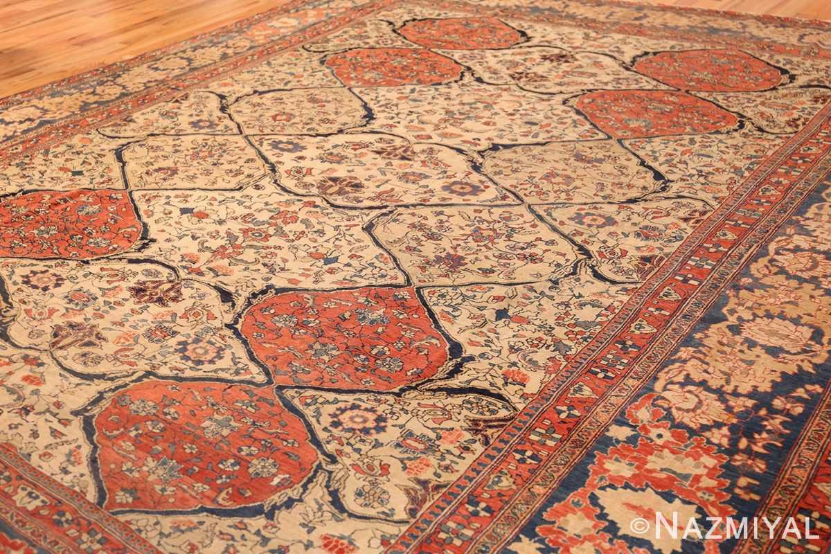 antique persian ivory sarouk farahan oriental rug 40530 side Nazmiyal