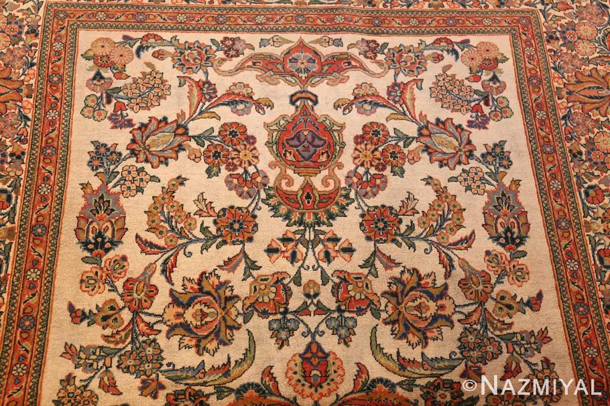 antique persian wool and silk prayer design kashan oriental rug 50633 top Nazmiyal