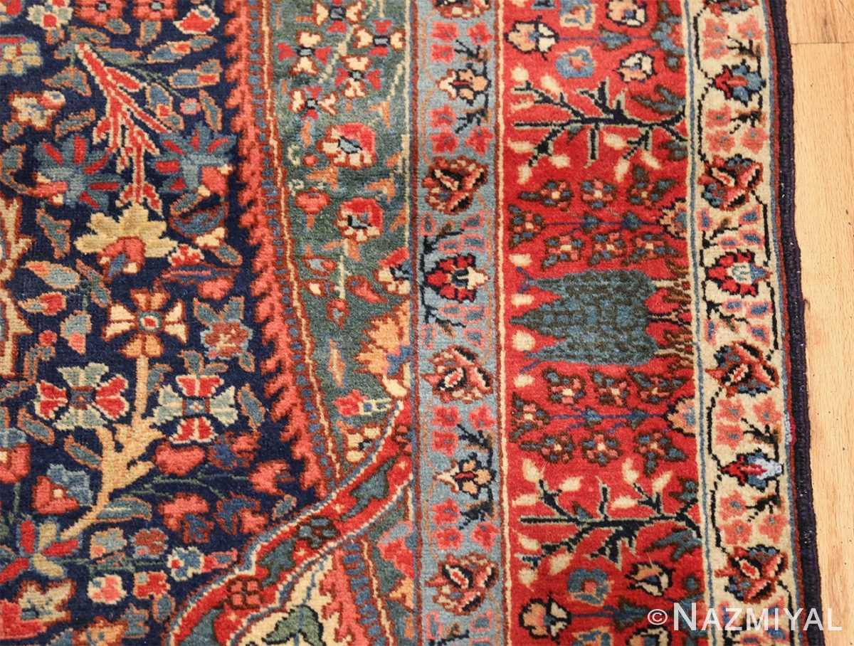 antique tree of life design persian tabriz rug 50668 border Nazmiyal