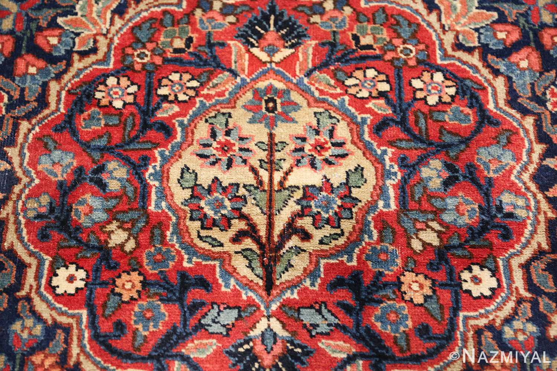 antique tree of life design persian tabriz rug 50668 center Nazmiyal