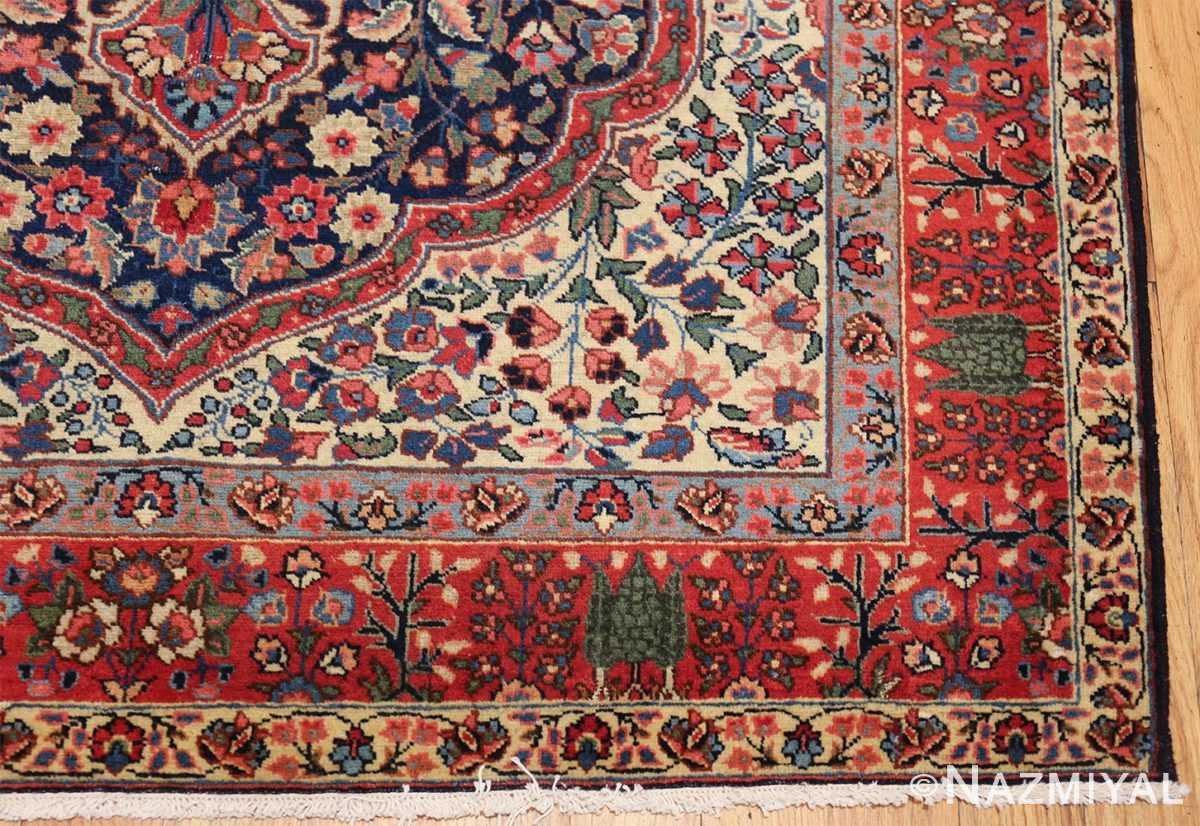 antique tree of life design persian tabriz rug 50668 corner Nazmiyal