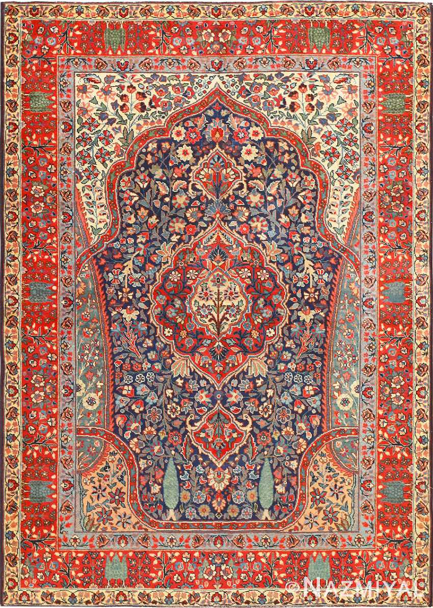 Antique Tree Of Life Design Persian Tabriz Rug 50668 By