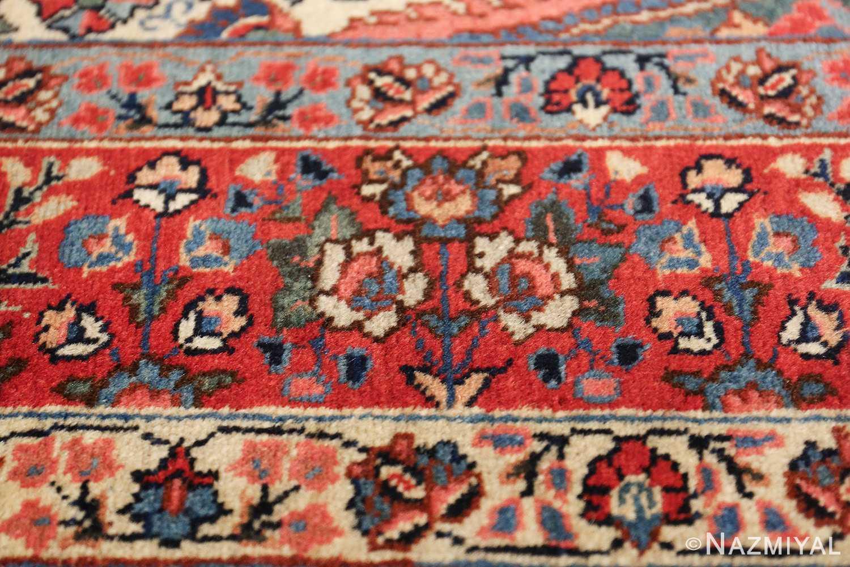 antique tree of life design persian tabriz rug 50668 flowers Nazmiyal