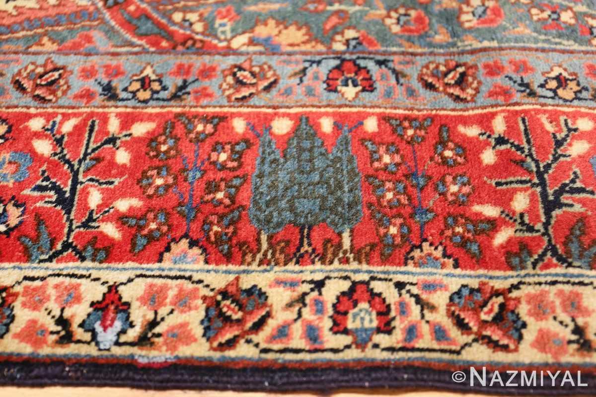 antique tree of life design persian tabriz rug 50668 pine Nazmiyal