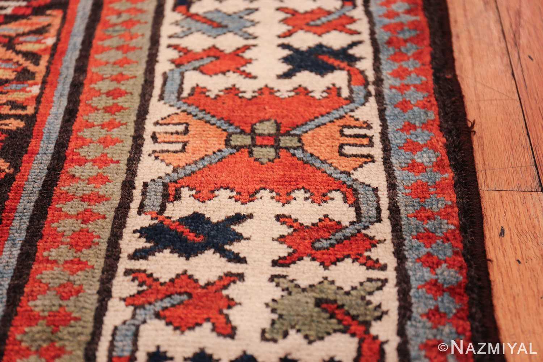 antique tribal northwest persian runner rug 50669 border Nazmiyal
