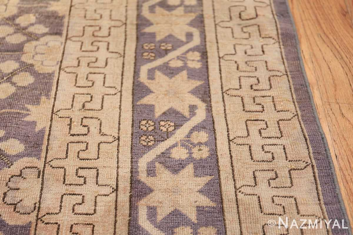 Beautiful Square Purple Antique Khotan Rug 48783 Border Design Nazmiyal